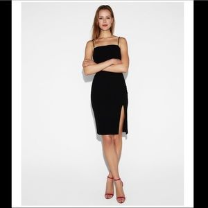 NWOT Express front slit sheath dress